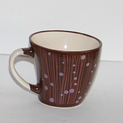 150cc ceramic coffee cup and saucer