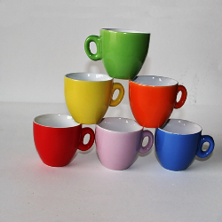 90cc ceramic coffee cup and  saucer