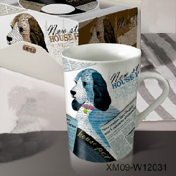 Fine porcelain coffee mug-dog