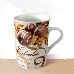 Fine porcelain coffee mug-chocolate ball