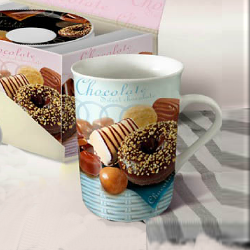 Fine porcelain coffee mug-cookies