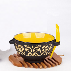 Soup bowl with spoon& handle