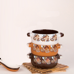 Soup bowl & cup with spoon