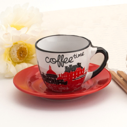 80cc espresso cup&saucer in coffee time