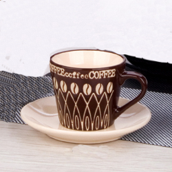 8oz coffee cup&saucer