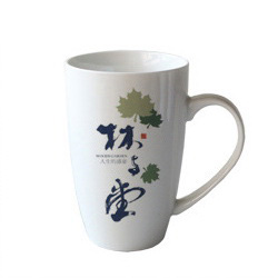 14oz white coffee mug
