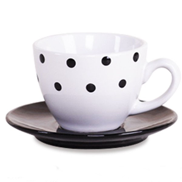 Small colorful spot design coffee cup&saucer