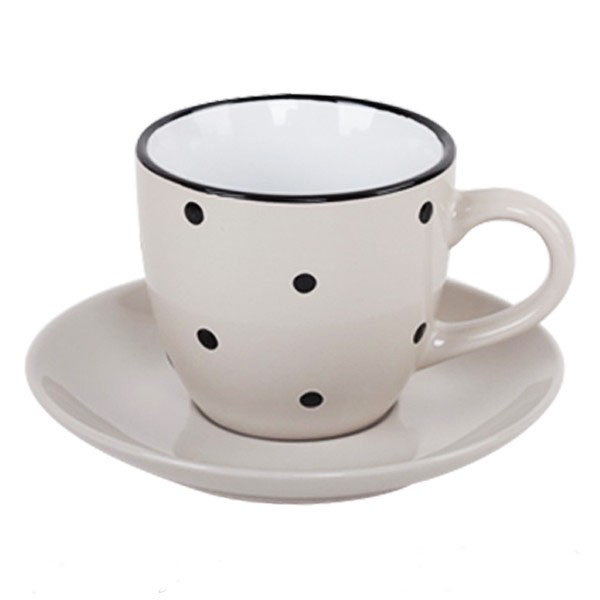 Small colorful spot glaze coffee cup&saucer
