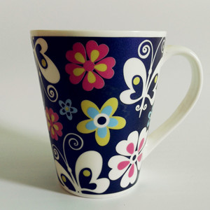 12oz electro-optic flower full printed ceramic mug series