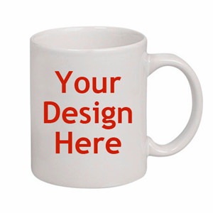 Customized ceramic mug, for your design