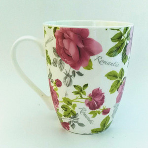 350cc beautiful flower ceramic coffee mug