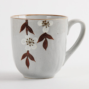 Simple leaf and flower design ceramic tea cup series