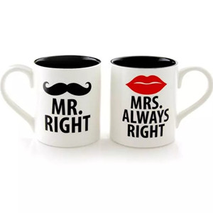 Mr.Right&Mrs.Always Right, personalized ceramic couple mug