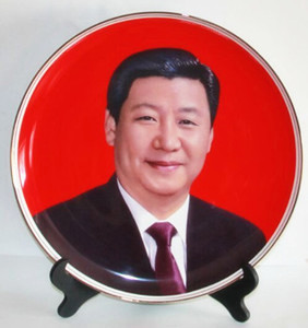 Customized red ceramic decoration plate