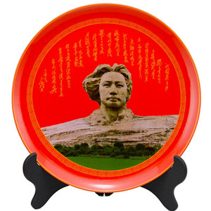 Personalized decoration red ceramic plate
