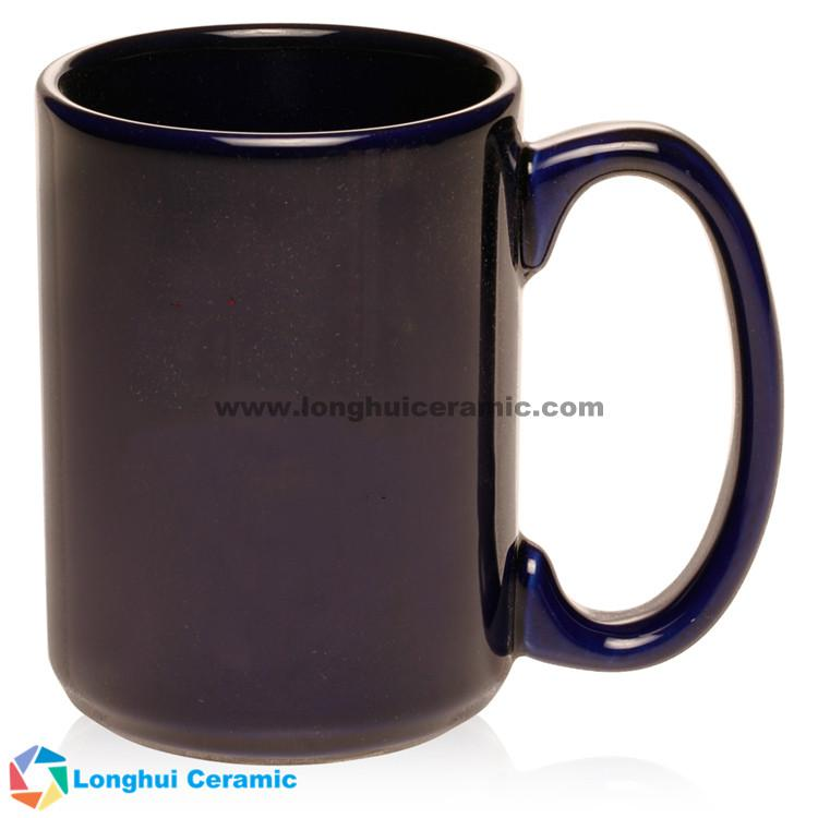 15oz Chic large glossy color customized ceramic coffee mug