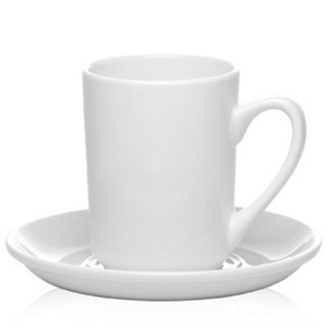 8oz Custom restaurant grade white porcelain coffee mug&saucer