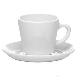 8oz Personalized vitrified white porcelain mug&saucer