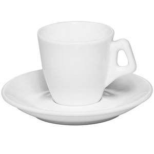 2.5oz Personalized white porcelain Espresso cup&saucer