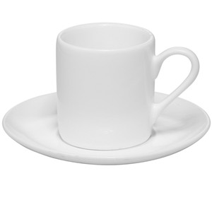 3oz Customizable white porcelain Espresso cup with saucer