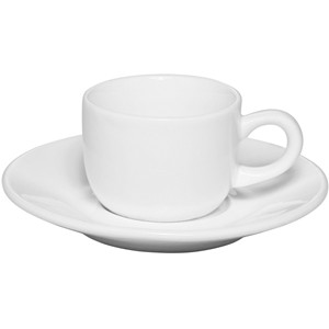 2.5oz Cheap custom white porcelain Espresso cup saucer set