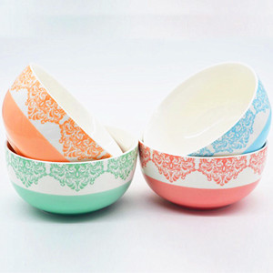 5.5inch hand-painted ceramic noodle bowl