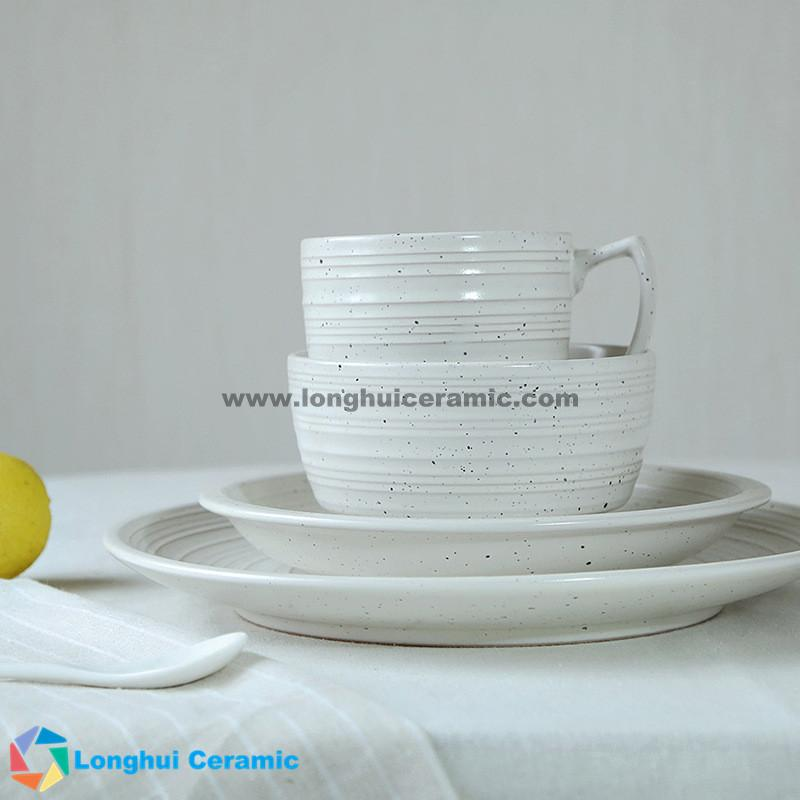 ... 4pcs Simple custom ceramic dinnerware set ... & Creative simple and elegant ceramic dinnerware set made in China ...