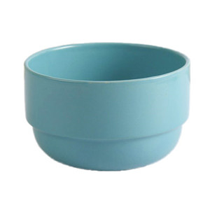 Stackable colorful ceramic rice bowl