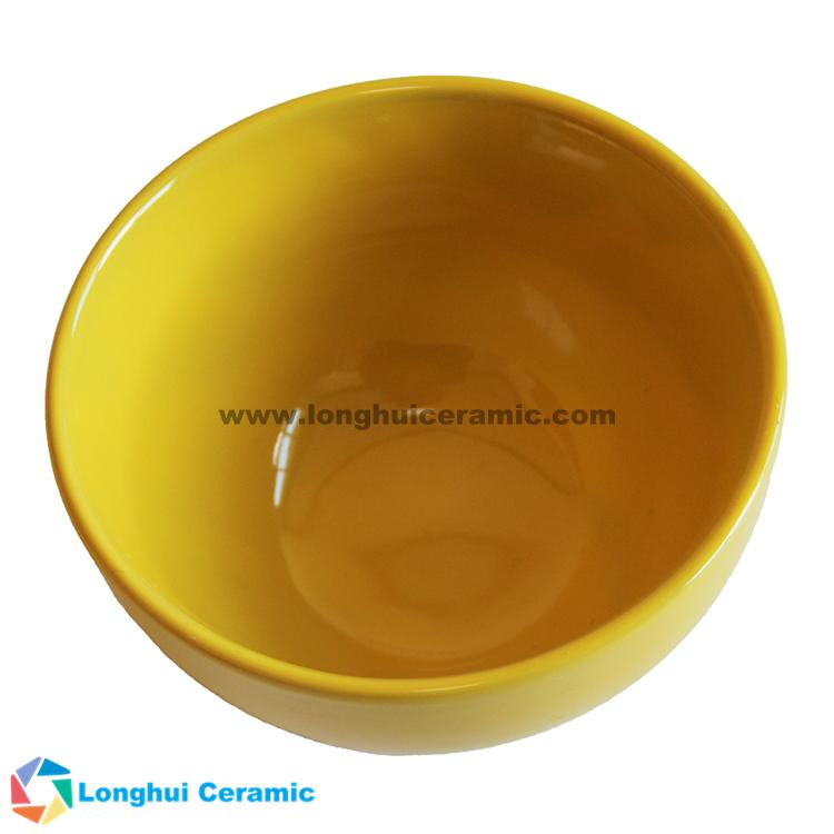 5 inch color solid glaze promotional custom ceramic bowl