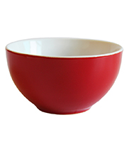 5 inch two tone red promotional logo custom bowl ceramic
