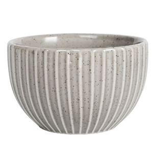 4'' liling elegant high-grade stripes embossed small ceramic rice bowl