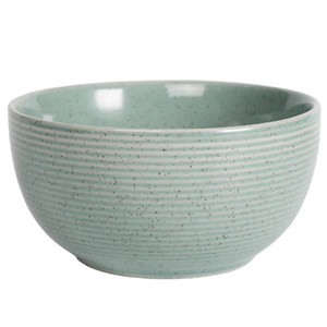 5.5''european style high end spiral line embossed ceramic noodle bowl
