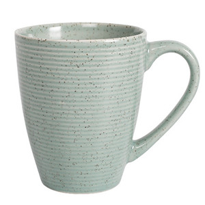 370cc nordic style speckle design ceramic embossed tea cup