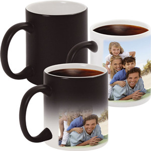 Novelty souvenir gift magic ceramic custom photo color changing mug with hot water