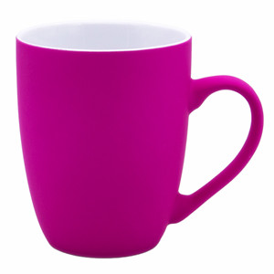 colorful soft touch surface rubberized coating finish ceramic cup