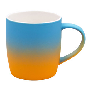 12oz Cute great gift custom spray gradient color gorgeous ceramic soft touch coffee mug